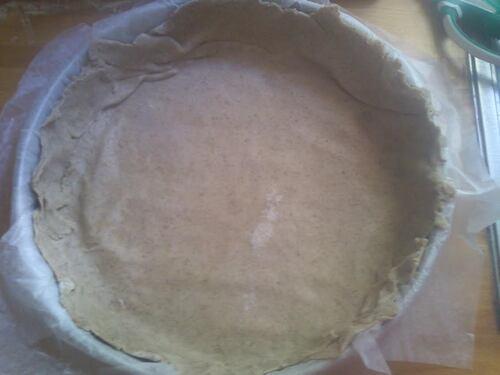 une tarte poireau chèvre juste comme ça avec une pâte au sarrasin