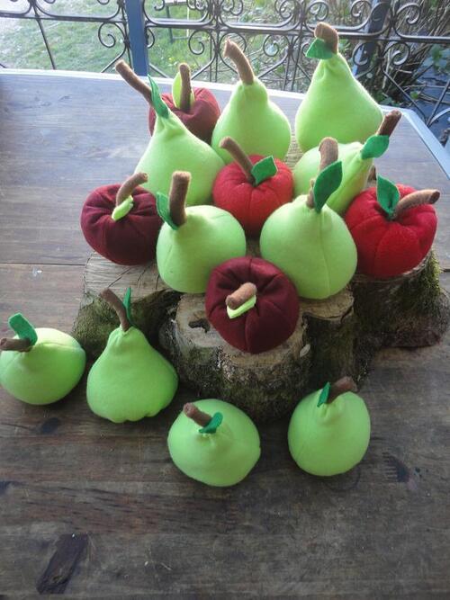 Les fruits du verger,15€ les 5 au choix