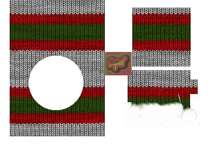 Kit tricot vert rouge blanc NOEL