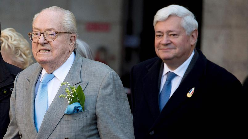 Marine Le Pen, présidente du FN et Florian Philippot, vice-président