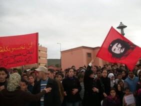 Che guevara dans une manifestation a Khenifra