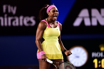 Serena s'encourage
