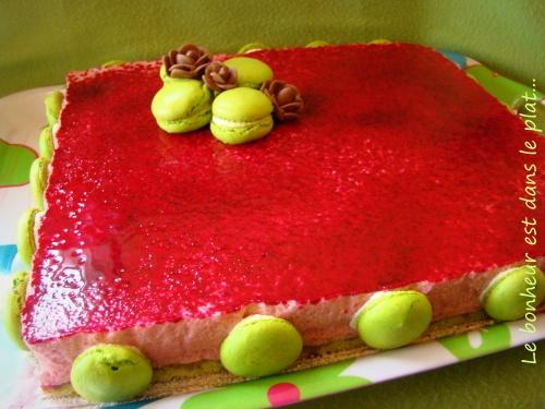 Bavarois framboise/pistache livraison spéciale