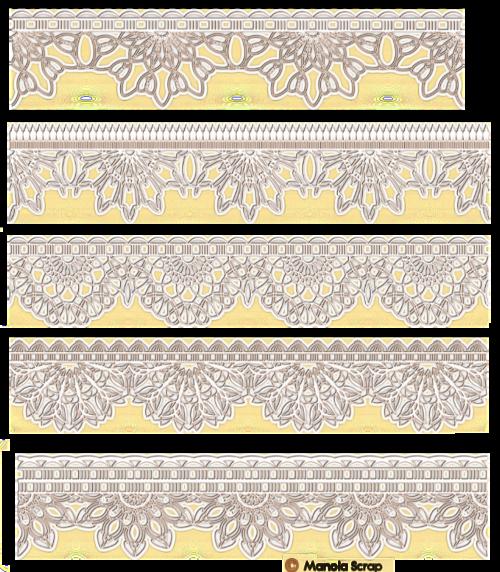 Bordures de dentelles de couleur