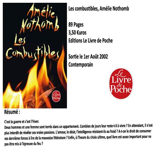 Les combustibles, Amélie Nothomb