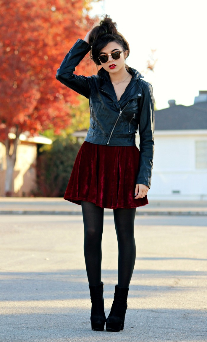 girly punk look