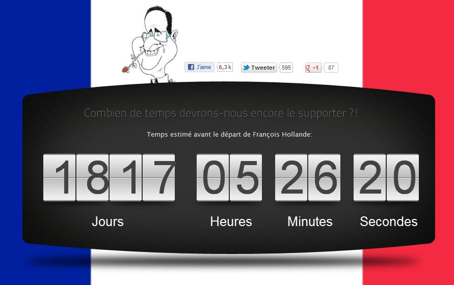 Pour Hollande, le compte à rebours a déjà commencé...