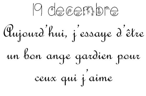 Jeudi 19 décembre: Calendrier de l'Avent