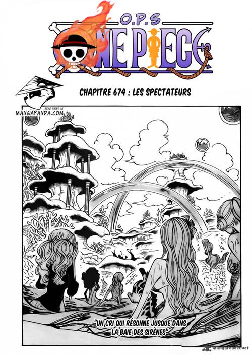 One Piece Chapitre scan 674 VA