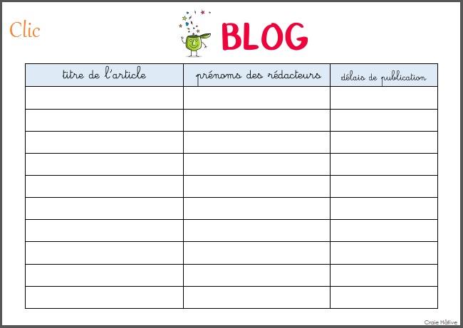 Un blog de la classe