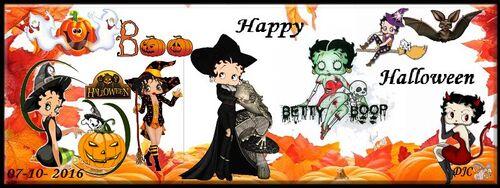 Betty Boop  Bannières -Halloween