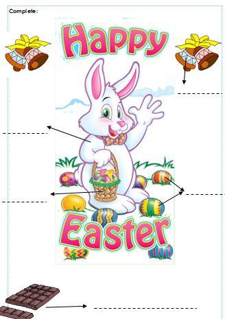 Coloriage De Paques En Anglais.Exercices Anglais Cp Et Ce1 Sur Paques Vero A L Ecole