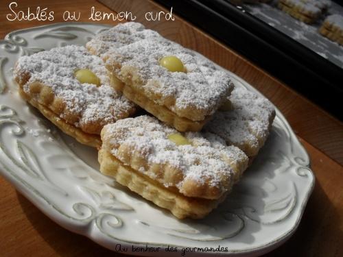 Sablés au lemon curd