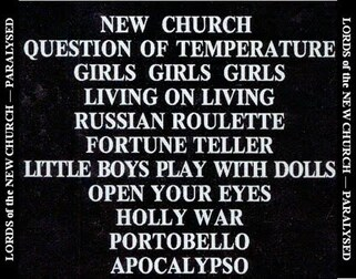 Le coin des lecteurs # 75: Lords of the New Church - Paralysed (vinyl rip)