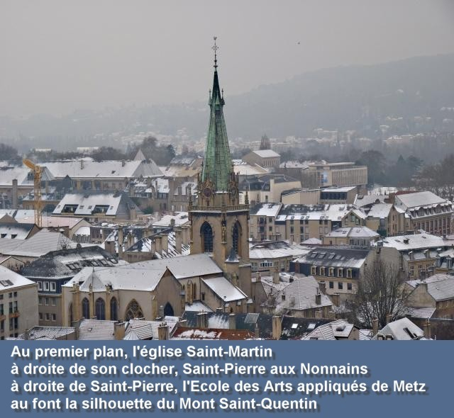 Vue aérienne de Metz janvier 6 09 01 2010