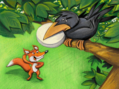 Le Corbeau et le Renard - illustration 1