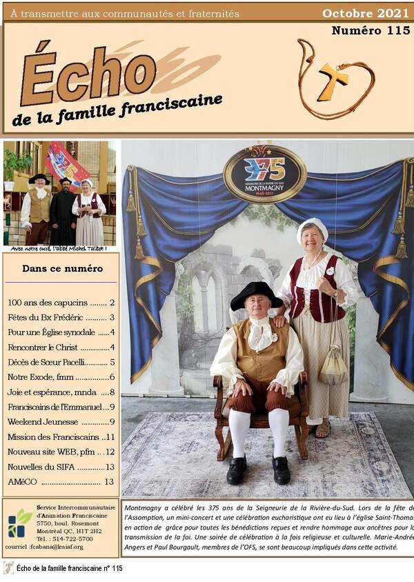 Bulletin de la Famille franciscaine du Québec -  Écho numéro 115