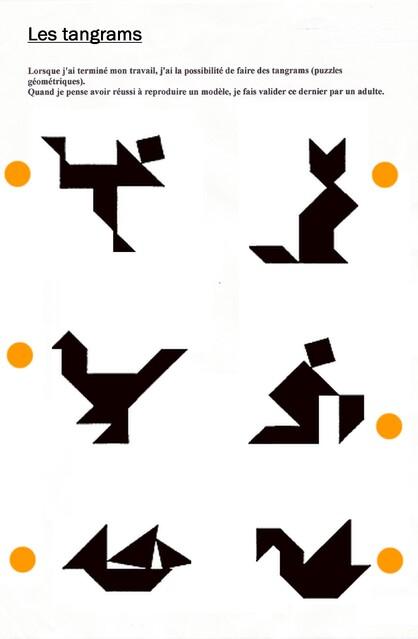 Les tangrams : la suite