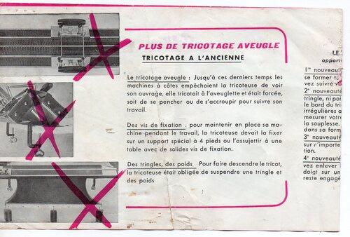 publicité vintage dispositif côtes de la machine a tricoter knittax