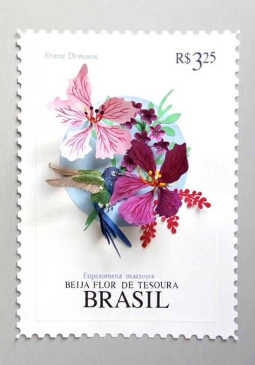 Nouveaux oiseaux et papillons en papier réalisés par Diana Beltran Herrera