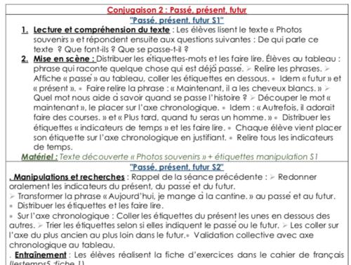 Conjugaison 2 : « Passé, présent, futur » (CE1)