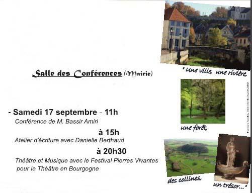 """Aujourd'hui, samedi 17 septembre, Châtillon-Scènes vous propose dans son festival  """"Au fil de l'onde, entrez en Seine"""", une conférence, un atelier d'écriture et un spectacle musical"""