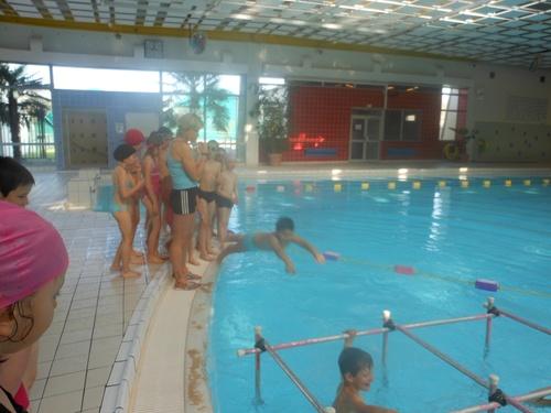 Première séance de piscine