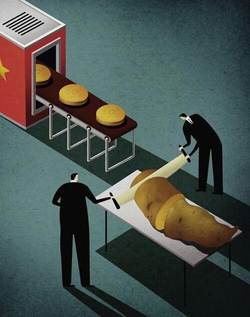 Illustrations satiriques de Kai Ti Hsu