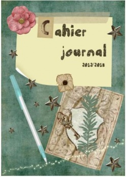 Couverture, cahier journal, enseignant