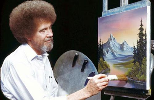 Peinture de : Bob ROSS