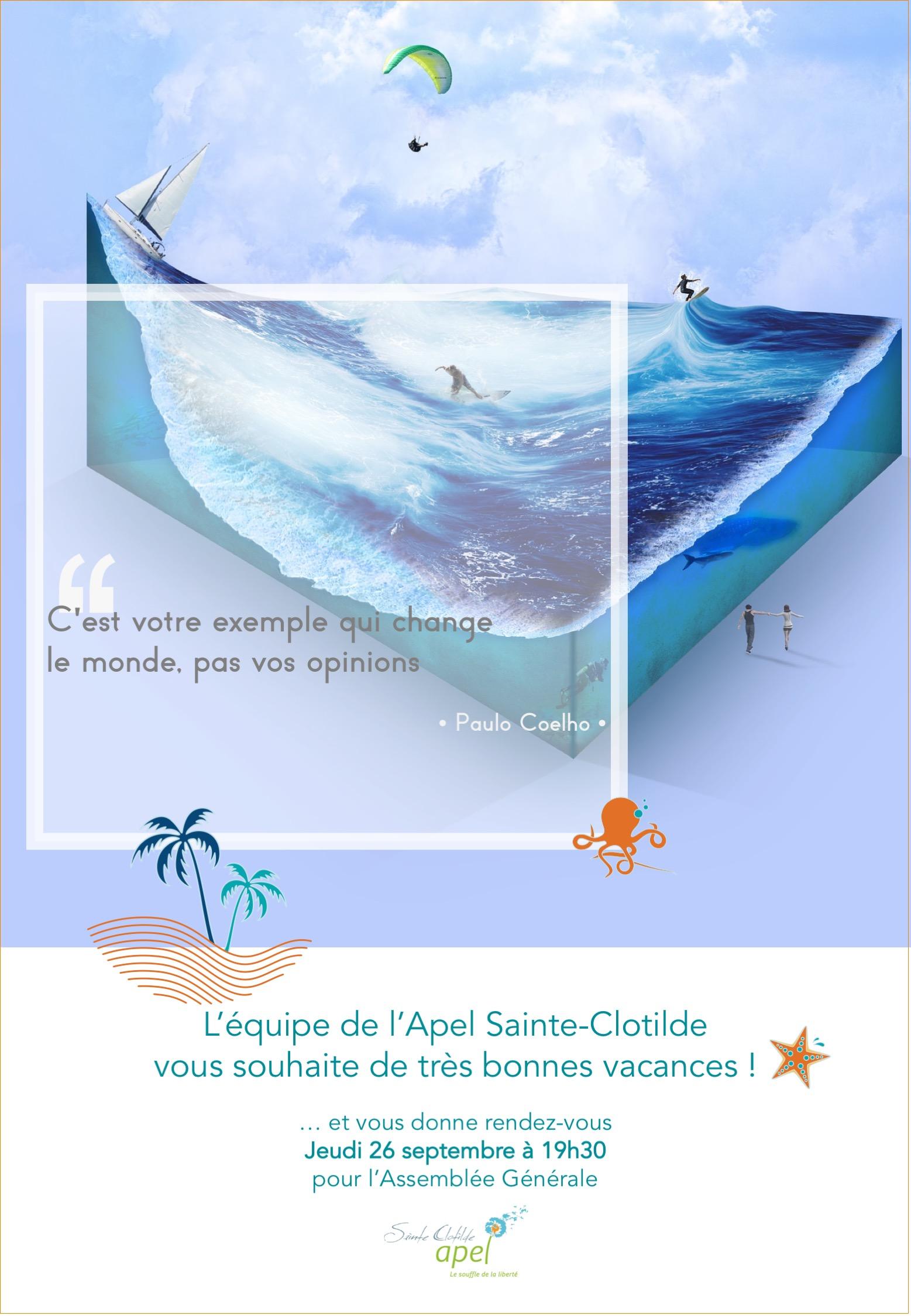 LEquipe de l'APEL vous souhaite de Bonnes Vacances !