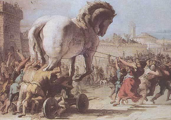 Cheval de Troie. Peinture de Tiepolo