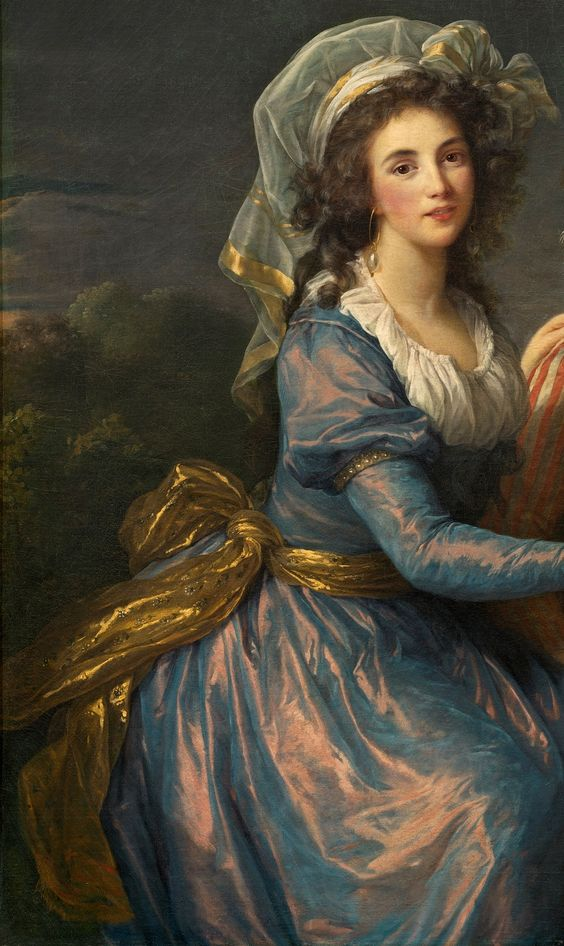 Elisabeth-Louise Vigee Le Brun - Marquise de Pezay, and the Marquise de Rouge with Her Sons Alexis and Adrien [1787] - detail: