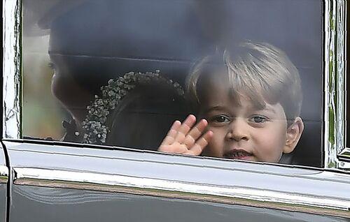Au mariage de Pippa ....  George et Charlotte... 20 mai 2017