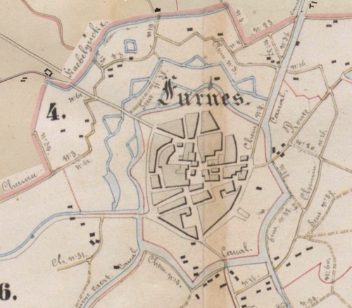 Veurne (Atlas der Buurtwegen, 1841)(geopunt.be)