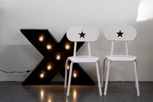 Collection ROSEFILLE : les chaises étoiles