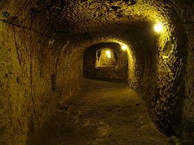 Une salle de la cité souterraine de Derinkuyu