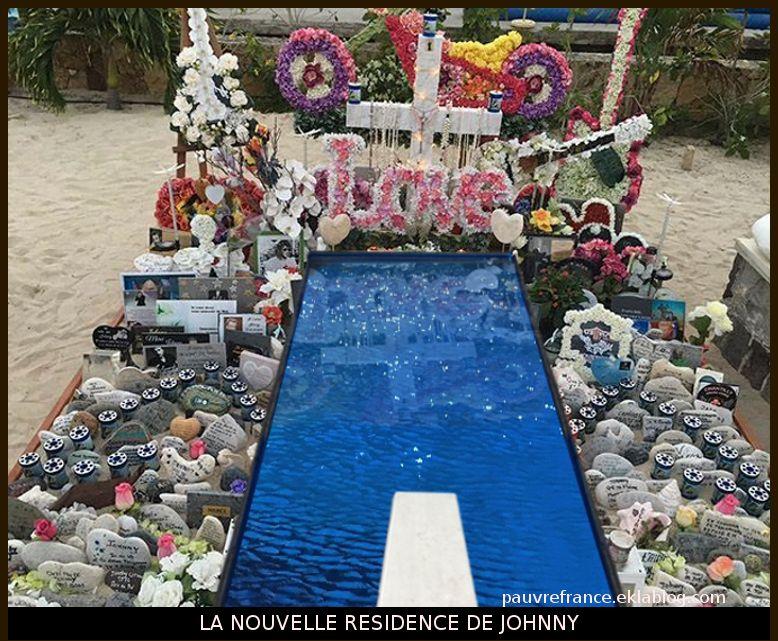 Découvrez la nouvelle tombe de Johnny à Saint- Barthélemy.