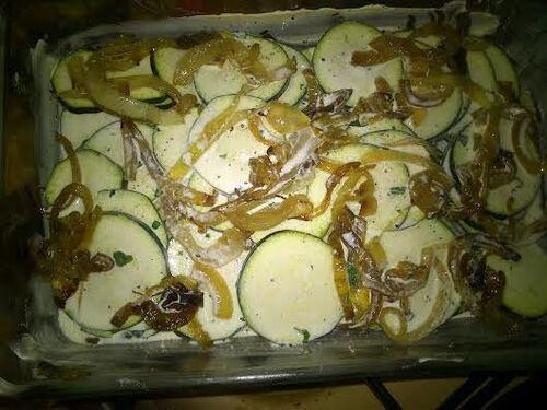 Gratin de courgettes et pommes de terre pour rééquilibrer un peu la journée