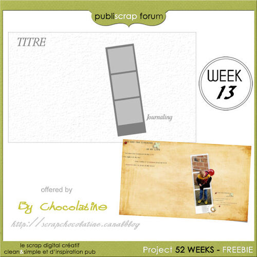 PBS PROJECT Template Week 13/52