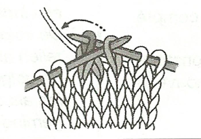 rabattre des mailles et continuer tricot