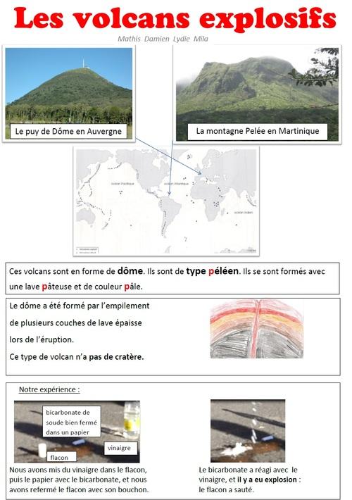 2 principaux types de volcans en Auvergne