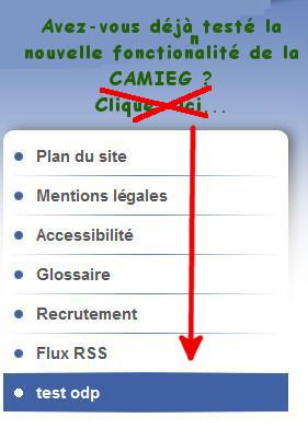 Nouvelle fonctionnalité sur le site de la CAMIEG....