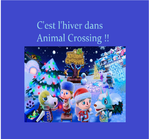 L'hiver Animal Crossing New Leaf <3