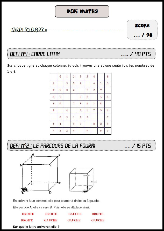 image défis maths 15