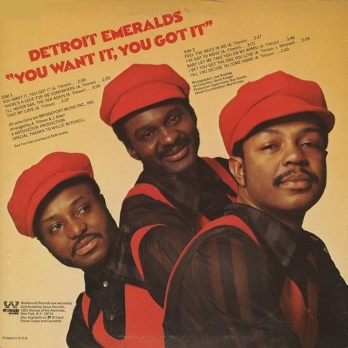 "Detroit Emeralds : Album "" You Want It , You Got It "" Westbound Records ‎WB 2013 [ US ]"