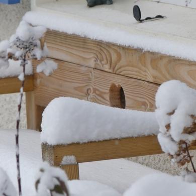 La neige est une artiste...