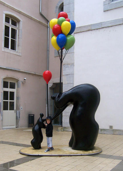 sculpture Jean-Louis Toutain marchand de ballons