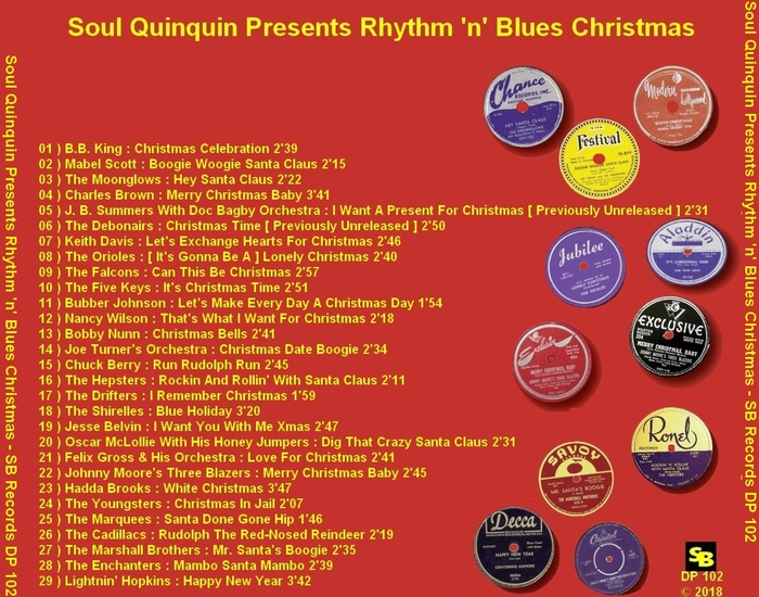 "Various Artists "" Soul Quinquin Presents Rhythm 'n' Blues Christmas "" Soul Bag Records DP 102 [ FR ]"