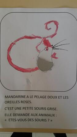 Mon livre à toucher d'après l'album Mandarine la petite souris